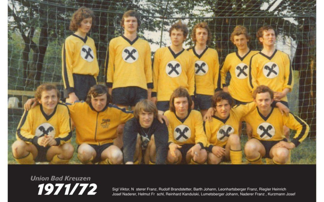 Start für Union Bad Kreuzen: Team 1971/72