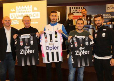 Lask Stammtisch Gewinner Lask Trikots Bad Kreuzen 19. November 2019 GH Schiefer (Foto Rumetshofer Gerhard)