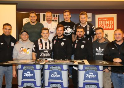 Lask Stammtisch Ismael Potzmann Gebauer Mit Lask Fans (Foto UBK)