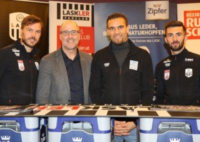 Lask Stammtisch Ismael Potzmann Gebauer Mit Rumetshofer Gerhard (Foto UBK)