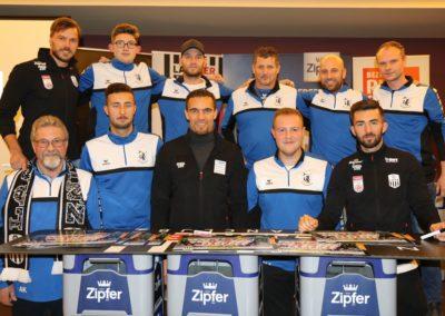 Lask Stammtisch Ismael Potzmann Gebauer Mit Union Bad Kreuzen Vereinsvertretern (Foto UBK)