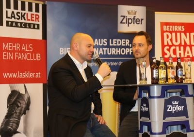 Lask Stammtisch Lask Vizepräsident Wolfgang Resch & Hochedlinger Bad Kreuzen 19. November 2019 GH Schiefer (Foto Rumetshofer Gerhard)