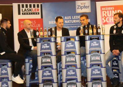 Lask Stammtisch Potzmann Resch Hochedlinger Ismael Gebauer Podium (Foto UBK)