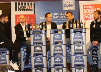 Lask Stammtisch Potzmann Resch Hochedlinger Ismael Gebauer Podium II (Foto UBK)
