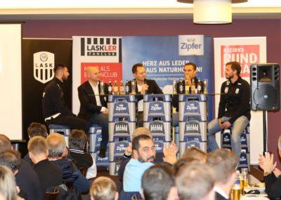 Lask Stammtisch Potzmann Resch Hochedlinger Ismael Gebauer Podium III (Foto UBK)