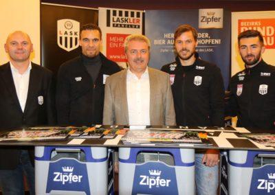 Lask Stammtisch Potzmann Resch Ismael Gebauer Mit Bürgermeister Manfred Nenning (Foto UBK)